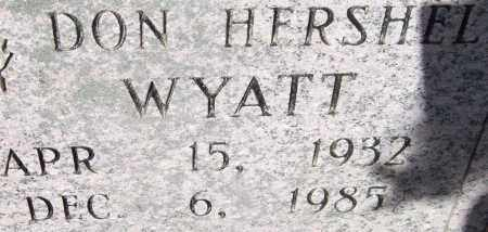 WYATT, DON HERSHEL - Saline County, Arkansas | DON HERSHEL WYATT - Arkansas Gravestone Photos