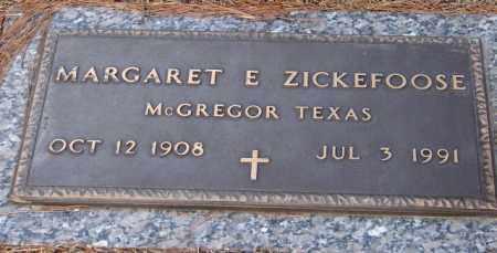 ZICKEFOOSE, MARGARET E. - Saline County, Arkansas | MARGARET E. ZICKEFOOSE - Arkansas Gravestone Photos