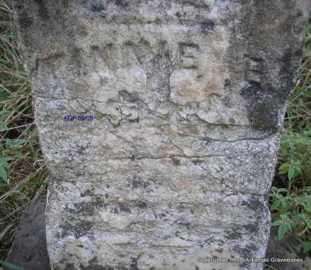 UNKNOWN, MINNIE E - Scott County, Arkansas | MINNIE E UNKNOWN - Arkansas Gravestone Photos