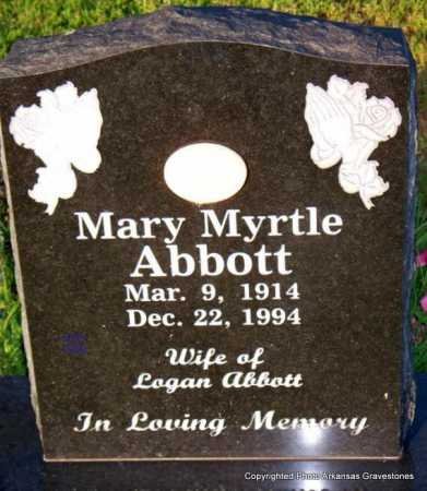 ABBOTT, MARY MYRTLE - Scott County, Arkansas | MARY MYRTLE ABBOTT - Arkansas Gravestone Photos