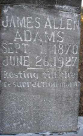 ADAMS, JAMES ALLEN - Scott County, Arkansas | JAMES ALLEN ADAMS - Arkansas Gravestone Photos