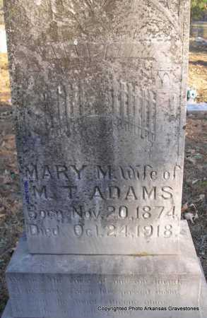ADAMS, MARY M - Scott County, Arkansas | MARY M ADAMS - Arkansas Gravestone Photos