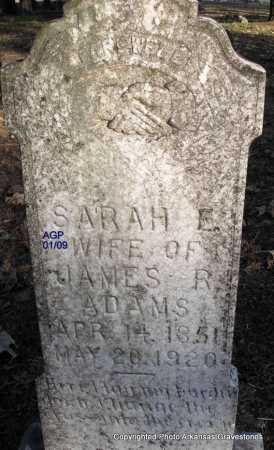 ADAMS, SARAH E - Scott County, Arkansas | SARAH E ADAMS - Arkansas Gravestone Photos