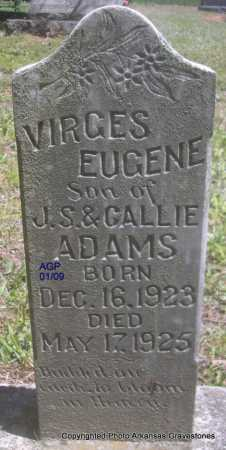 ADAMS, VIRGES EUGENE - Scott County, Arkansas | VIRGES EUGENE ADAMS - Arkansas Gravestone Photos