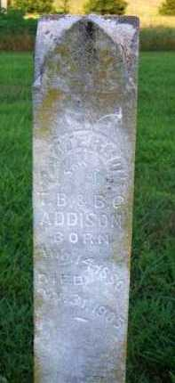 ADDISON, PATTERSON - Scott County, Arkansas | PATTERSON ADDISON - Arkansas Gravestone Photos