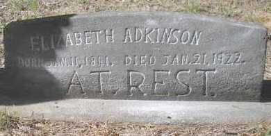 ADKINSON, ELIZABETH - Scott County, Arkansas | ELIZABETH ADKINSON - Arkansas Gravestone Photos