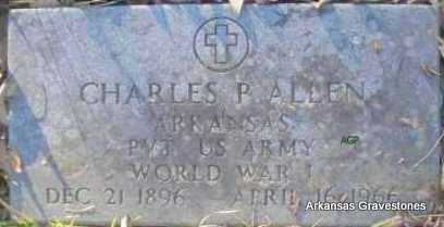 ALLEN  (VETERAN WWI), CHARLES P - Scott County, Arkansas | CHARLES P ALLEN  (VETERAN WWI) - Arkansas Gravestone Photos