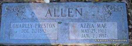 ALLEN, AZZIA MAE - Scott County, Arkansas | AZZIA MAE ALLEN - Arkansas Gravestone Photos