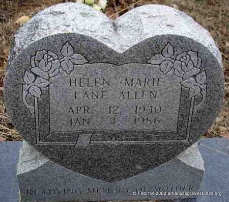 LANE ALLEN, HELEN MARIE - Scott County, Arkansas | HELEN MARIE LANE ALLEN - Arkansas Gravestone Photos