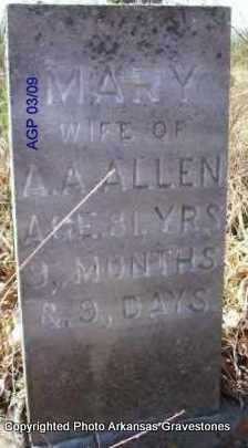 ALLEN, MARY - Scott County, Arkansas | MARY ALLEN - Arkansas Gravestone Photos