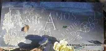 AMOS, ANNIE - Scott County, Arkansas | ANNIE AMOS - Arkansas Gravestone Photos