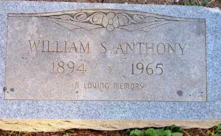 ANTHONY, WILLIAM S - Scott County, Arkansas | WILLIAM S ANTHONY - Arkansas Gravestone Photos