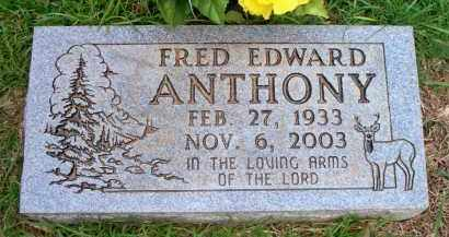 ANTHONY, FRED EDWARD - Scott County, Arkansas | FRED EDWARD ANTHONY - Arkansas Gravestone Photos