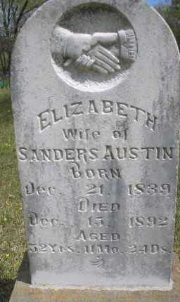 AUSTIN, ELIZABETH - Scott County, Arkansas | ELIZABETH AUSTIN - Arkansas Gravestone Photos