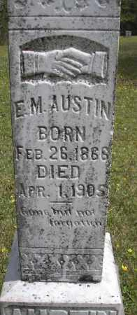 AUSTIN, E M - Scott County, Arkansas | E M AUSTIN - Arkansas Gravestone Photos