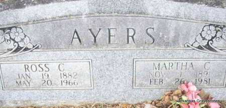 AYERS, MARTHA C - Scott County, Arkansas | MARTHA C AYERS - Arkansas Gravestone Photos