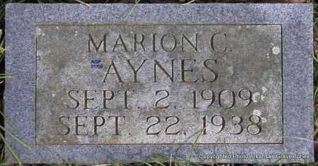 AYNES, MARION C - Scott County, Arkansas | MARION C AYNES - Arkansas Gravestone Photos