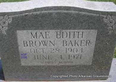 BROWN BAKER, MAE EDITH - Scott County, Arkansas | MAE EDITH BROWN BAKER - Arkansas Gravestone Photos