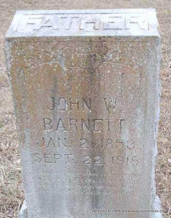 BARNETT, JOHN W - Scott County, Arkansas | JOHN W BARNETT - Arkansas Gravestone Photos