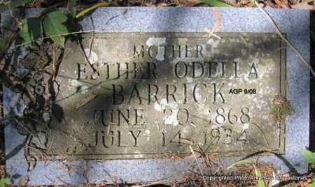 BARRICK, ESTHER ODELLA - Scott County, Arkansas | ESTHER ODELLA BARRICK - Arkansas Gravestone Photos