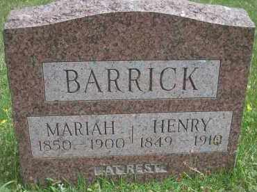 BARRICK, MARIAH - Scott County, Arkansas | MARIAH BARRICK - Arkansas Gravestone Photos
