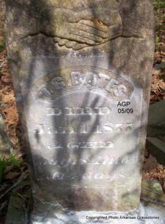 BATES, T  G - Scott County, Arkansas   T  G BATES - Arkansas Gravestone Photos