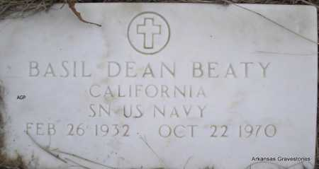 BEATY  (VETERAN), BASIL DEAN - Scott County, Arkansas | BASIL DEAN BEATY  (VETERAN) - Arkansas Gravestone Photos