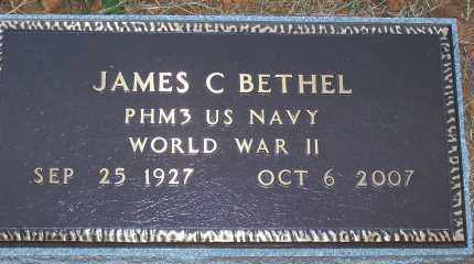 BETHEL,   (VETERAN WWII), JAMES CLAUDE - Scott County, Arkansas | JAMES CLAUDE BETHEL,   (VETERAN WWII) - Arkansas Gravestone Photos