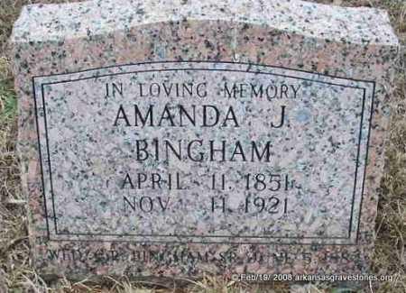 BINGHAM, AMANDA J - Scott County, Arkansas | AMANDA J BINGHAM - Arkansas Gravestone Photos
