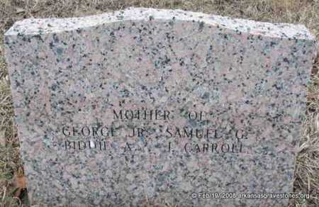 BINGHAM, AMANDA J   (REVERSE OF STONE) - Scott County, Arkansas | AMANDA J   (REVERSE OF STONE) BINGHAM - Arkansas Gravestone Photos