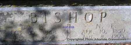 BISHOP, N  E - Scott County, Arkansas | N  E BISHOP - Arkansas Gravestone Photos