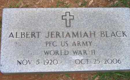 BLACK  (VETERAN WWII), ALBERT JERIAMIAH - Scott County, Arkansas | ALBERT JERIAMIAH BLACK  (VETERAN WWII) - Arkansas Gravestone Photos