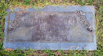SANDERS BLACK, MARTHA - Scott County, Arkansas | MARTHA SANDERS BLACK - Arkansas Gravestone Photos