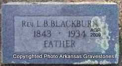 BLACKBURN  (VETERAN CSA), REV L B - Scott County, Arkansas | REV L B BLACKBURN  (VETERAN CSA) - Arkansas Gravestone Photos