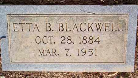 BLACKWELL, ETTA B - Scott County, Arkansas | ETTA B BLACKWELL - Arkansas Gravestone Photos