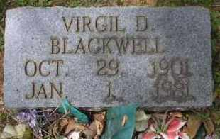 BLACKWELL, VIRGIL D - Scott County, Arkansas | VIRGIL D BLACKWELL - Arkansas Gravestone Photos
