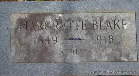 BLAKE, MARGRETTE - Scott County, Arkansas | MARGRETTE BLAKE - Arkansas Gravestone Photos