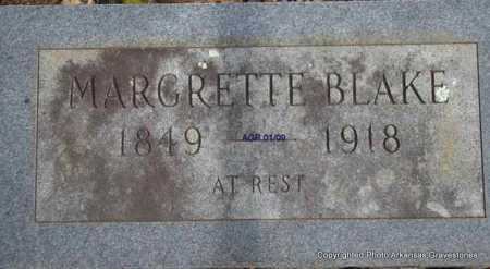 BLAKE, MARGRETTE - Scott County, Arkansas | MARGRETTE BLAKE - Arkansas Gravestone Photos
