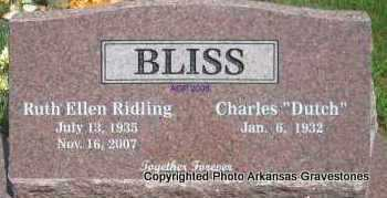 RIDLING BLISS, RUTH ELLEN - Scott County, Arkansas | RUTH ELLEN RIDLING BLISS - Arkansas Gravestone Photos