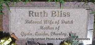 BLISS, RUTH   (2ND  STONE) - Scott County, Arkansas | RUTH   (2ND  STONE) BLISS - Arkansas Gravestone Photos
