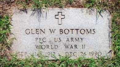 BOTTOMS  (VETERAN WWII), GLEN W - Scott County, Arkansas | GLEN W BOTTOMS  (VETERAN WWII) - Arkansas Gravestone Photos