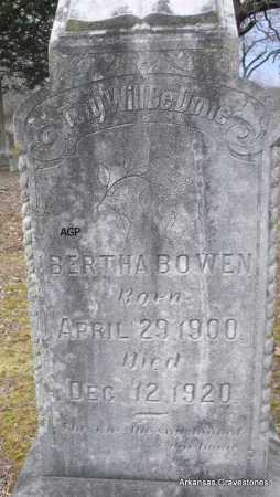 BOWEN, BERTHA - Scott County, Arkansas | BERTHA BOWEN - Arkansas Gravestone Photos