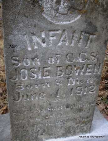 BOWEN, INFANT SON - Scott County, Arkansas | INFANT SON BOWEN - Arkansas Gravestone Photos