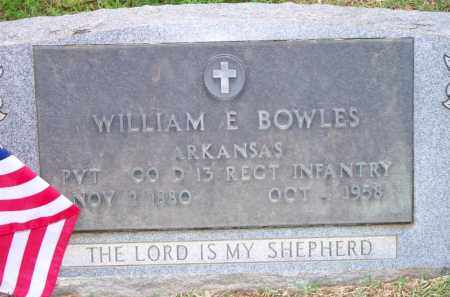 BOWLES  (VETERAN), WILLIAM E - Scott County, Arkansas | WILLIAM E BOWLES  (VETERAN) - Arkansas Gravestone Photos