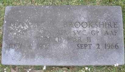 BROOKSHIRE  (VETERAN WWII), MARVIN E - Scott County, Arkansas | MARVIN E BROOKSHIRE  (VETERAN WWII) - Arkansas Gravestone Photos