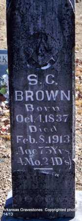 BROWN, S  C - Scott County, Arkansas | S  C BROWN - Arkansas Gravestone Photos