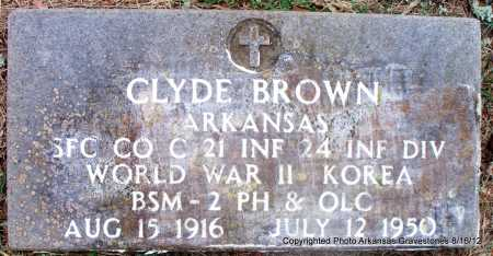 BROWN  (VETERAN 2 WARS, KIA), CLYDE U - Scott County, Arkansas | CLYDE U BROWN  (VETERAN 2 WARS, KIA) - Arkansas Gravestone Photos