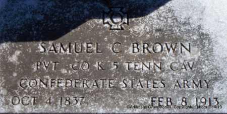 BROWN  (VETERAN CSA), SAMUEL C - Scott County, Arkansas | SAMUEL C BROWN  (VETERAN CSA) - Arkansas Gravestone Photos