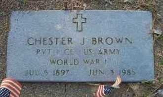 BROWN  (VETERAN WWI), CHESTER J - Scott County, Arkansas | CHESTER J BROWN  (VETERAN WWI) - Arkansas Gravestone Photos