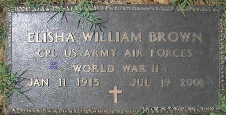 BROWN  (VETERAN WWII), ELISHA WILLIAM - Scott County, Arkansas | ELISHA WILLIAM BROWN  (VETERAN WWII) - Arkansas Gravestone Photos